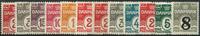 Danmark 1905-21 - 12 postfriske mærker