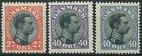 Danmark 1918 - AFA nr. 102 + 105-105a - Postfrisk