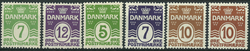 Danmark 1926-30 - AFA nr. 167-68 + 183-85 + 185a -  Postfrisk