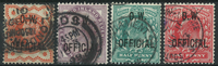 Great Britain 1896-1902 - AFA 64-65+69-70 - Service stamps - Cancelled