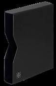 Kassette til indstiksbog - Sort - 64 sider - str. A4 - polstret læder