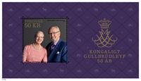 Faroe Islands - Royal Golden Wedding anniversary - Mint souvenir sheet
