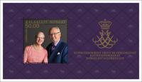 Greenland - Royal golden wedding anniversary - Mint souvenir sheet