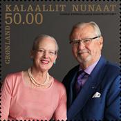 Grønland - Kongeligt guldbryllup - Postfrisk frimærke