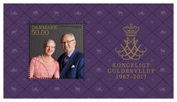 Danmark - Kongeligt guldbryllup - Postfrisk miniark