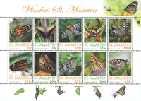 St. Martin - Butterflies - Mint sheetlet