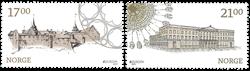 Norge - Europa/Slotte'17 - Postfrisk sæt 2v