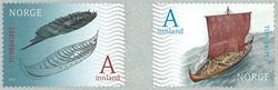 Norge - Tuneskibet - Postfrisk selvkl. sæt 2v