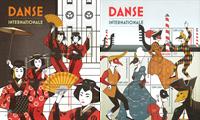 FN Geneve - Danse - Postfrisk sæt á 2 miniark