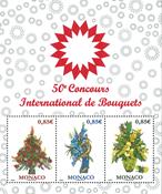 Monaco - Blomsterudstilling - Postfrisk miniark