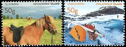 Island - Turisme frimærker - Postfrisk sæt 2v