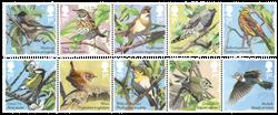 England - Sangfugle - Postfrisk sæt 10v