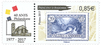 Fransk Andorra - 40 år Philandorre - Postfrisk sæt 2v