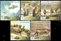 Australien - Første Verdenskrig 1917 - Postfrisk sæt 5v