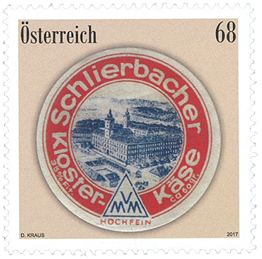 Østrig - Schlierbacher ost - Postfrisk frimærke
