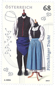 Østrig - Pöttschinger Nationaldragten - Postfrisk frimærke