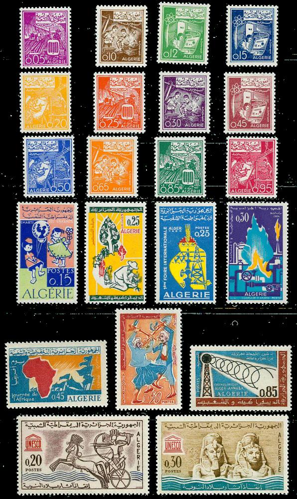 Algeriet - Årgang 1964 postfrisk komplet