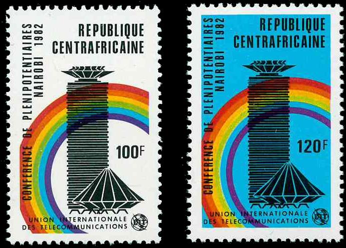 Centralafrika - YT 536-37 - Postfrisk