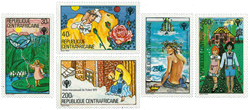 Centralafrika - YT 395-99 - Postfrisk