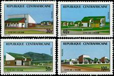 Centralafrika - YT 228-31 - Postfrisk