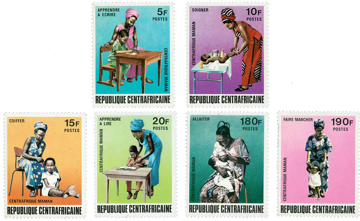 Centralafrika - YT 185-90 - Postfrisk