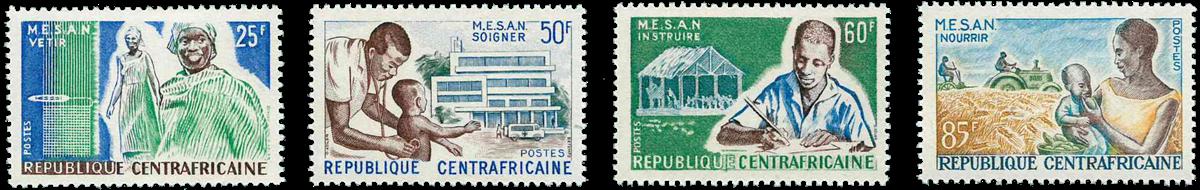 Centralafrika - YT 51-54 - Postfrisk