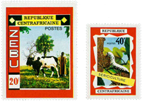 Central Africa - YT 130-31 - Mint