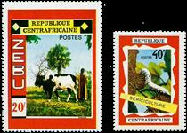 Centralafrika - YT 130-31 - Postfrisk