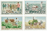 Central Africa - YT 43-46 - Mint