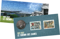 France - Chemin Des Dames - Mint souvenir sheet in folder