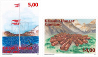 Greenland - Remote stations - Mint set 2v