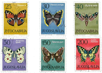 Yugoslavia - AFA 1058-63 cancelled