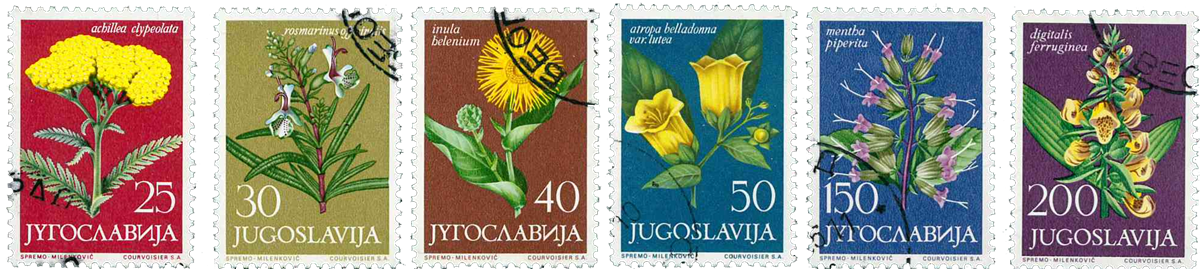 Jugoslavien - AFA 1106-11 stemplet