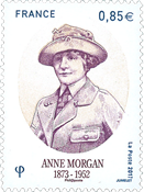 France - Anne Morgan - Mint stamp