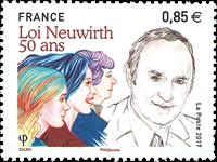 France - Neuwirth law - Mint stamp