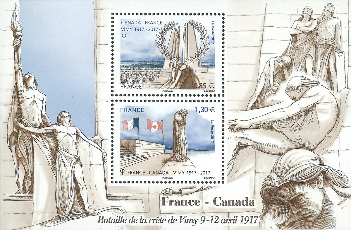 Frankrig - Fællesudgave med Canada - Postfrisk miniark