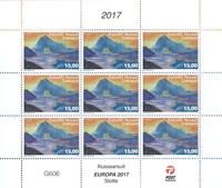 Grønland - Slotte småark - Postfrisk ark 135,-