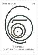 Austria - 650 years silversmith's and goldsmith's art - Mint stamp