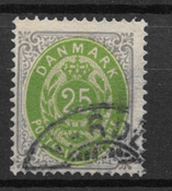 Danmark  1875 - AFA 29y - stemplet