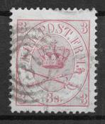 Danmark  1865 - AFA 12 - stemplet