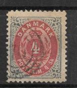 Danmark  1870 - AFA 18A - stemplet