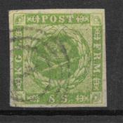Danmark  1857 - AFA 5 - stemplet