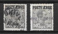 Denmark 1922 - AFA 7 + 7a - Cancelled