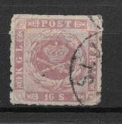 Denmark 1863 -  AFA no. 10 - Cancelled