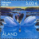 Åland - Finland 100 år - Postfrisk frimærke