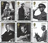 Jersey - Kong George VI - Postfrisk sæt 6v