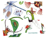 France - Insects - Mint souvenir sheet in folder