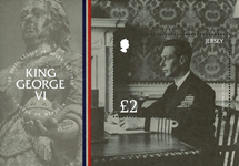 Jersey - Kong George VI - Postfrisk miniark