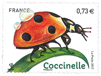 France - Ladybug - Mint stamp
