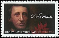 United States - Henry David Thoreau - Mint stamp